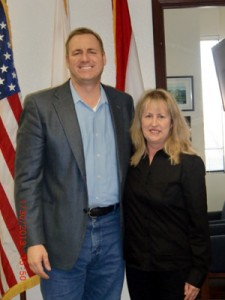 Cindy MacFarlane and U.S. Representative Jeff Denham
